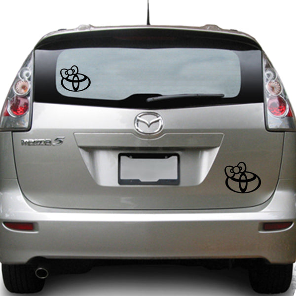 Hello Kitty Toyota 25+ colors and multiple sizes, sticker decal .