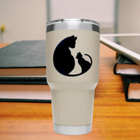 Mother Cat 25+ colors and multiple sizes, sticker decal .