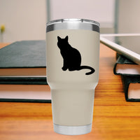 cat silhouette 25+ colors and multiple sizes, sticker decal .