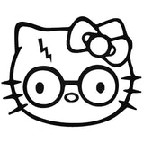 Hello Kitty Harry Potter 25+ colors and multiple sizes, sticker decal .
