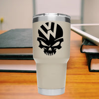 VW Skull  25+ colors and multiple sizes, sticker decal .