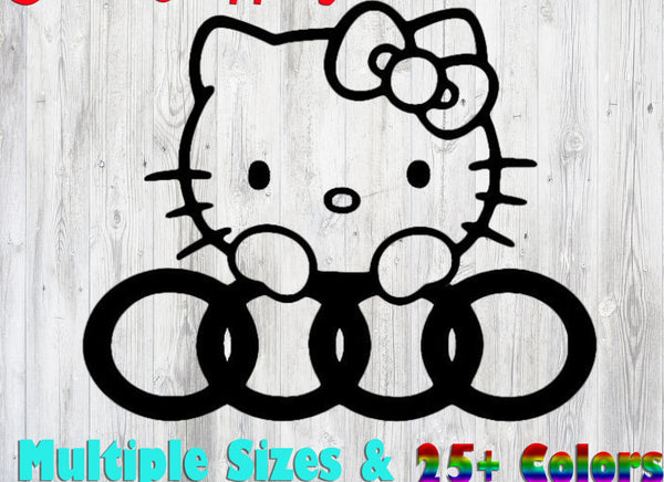 Hello Kitty Audi 25+ colors and multiple sizes, sticker decal .