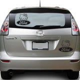 Hello Kitty Ford 25+ colors and multiple sizes, sticker decal .
