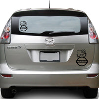 Hello Kitty Nissan 25+ colors and multiple sizes, sticker decal .