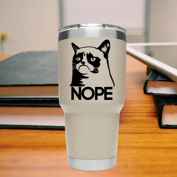 Grumpy Cat NOPE 25+ colors and multiple sizes, sticker decal .