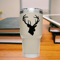 Buck head 25+ colors and multiple sizes, sticker decal .