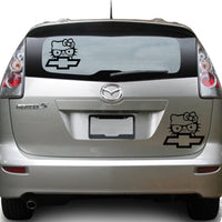 Hello Kitty Chevy 25+ colors and multiple sizes, sticker decal .