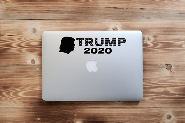 TRUMP 2020 Head Silhouette  , 25+ colors - multiple sizes, sticker decal .