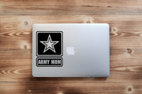 ARMY MOM, 35+ colors - multiple sizes, sticker decal .