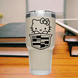 Hello Kitty Cadillac  25+ colors & multiple sizes vinyl sticker