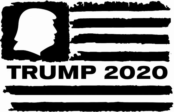 TRUMP 2020 American Flag , 25+ colors - multiple sizes, sticker decal .
