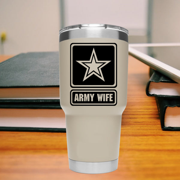 ARMY WIFE, 35+ colors - multiple sizes, sticker decal .