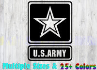 US ARMY, 35+ colors - multiple sizes, sticker decal .