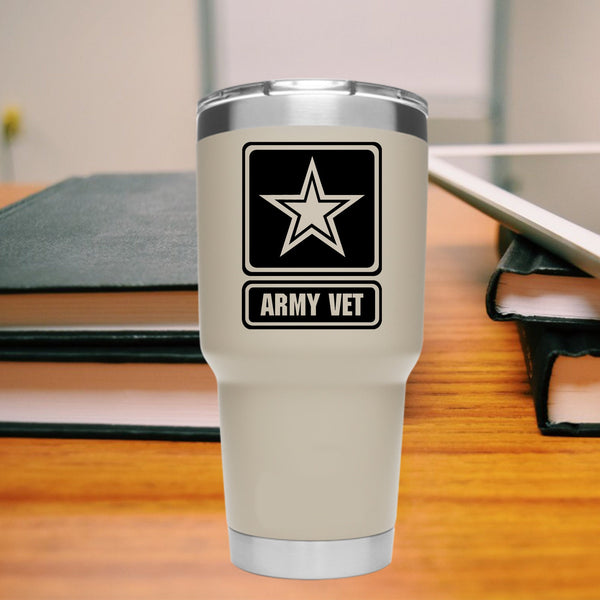 ARMY VET, 35+ colors - multiple sizes, sticker decal .