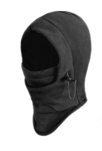 BalaKlave™ Best Fleece Black Balaclava Ski Hood Neck Warmer
