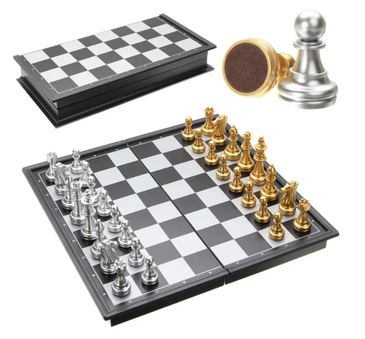 HaasBro™ Magnetic Chess Folding Board with Pieces Chess Game Set