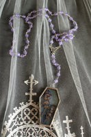 Néant Glass x RRM Lavender Coffin Rosary Style Necklace