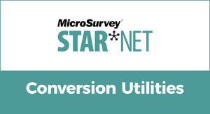 MicroSurvey STAR*NET (Conversion Utilities)