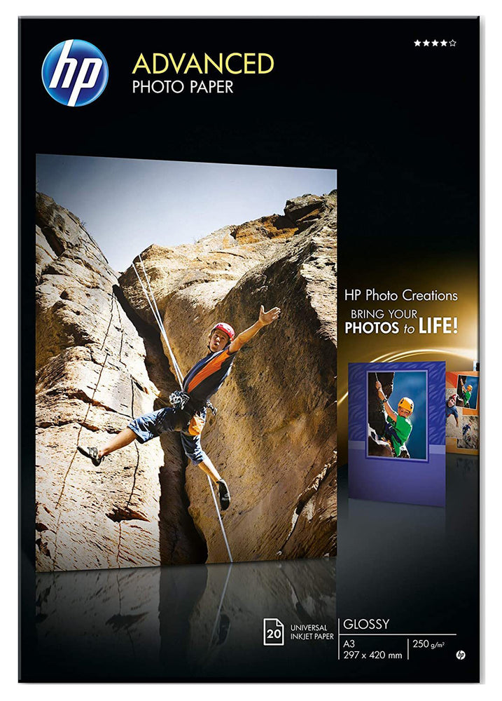 HP Advanced Glossy Photo Paper-20 sheets/A3 Size /297 x 420 mm  Q8697A
