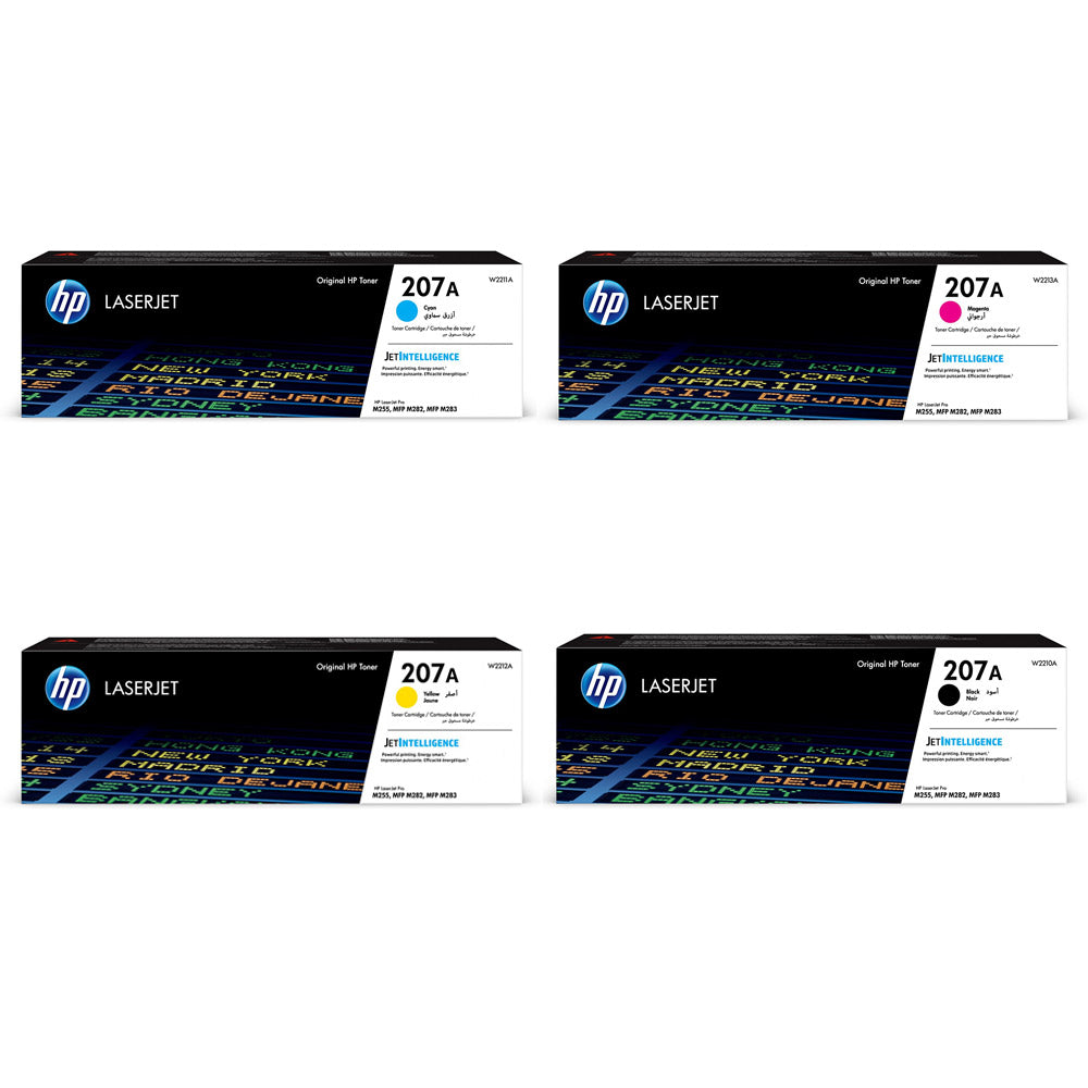 HP 207A Toner Cartridges for HP Colour LaserJet Pro  M255, MFP M282 and MPF M283
