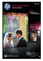 HP Premium Plus Glossy Photo Paper-50 sheets/10 x 15 cm CR695A