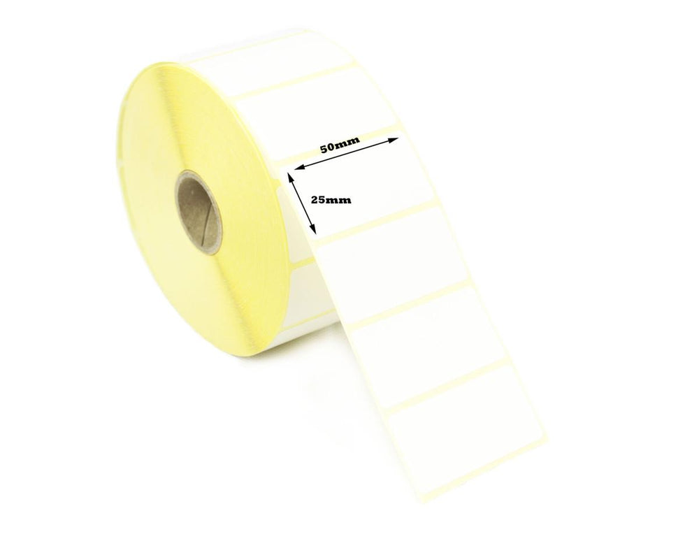 "Thermal Barcode Label  55mm x  25mm x 1 "" core - 1000 labels per roll"