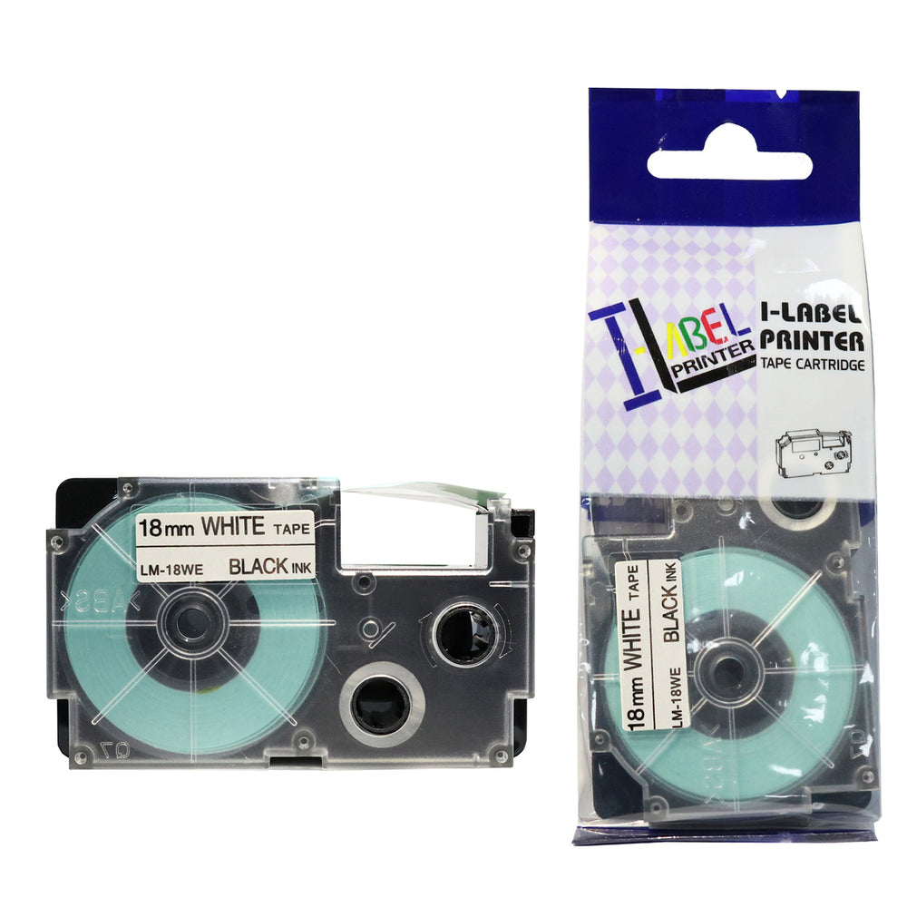 SKY 18mm x 8 meter Label Tape Cartridge for Casio  Label Printers