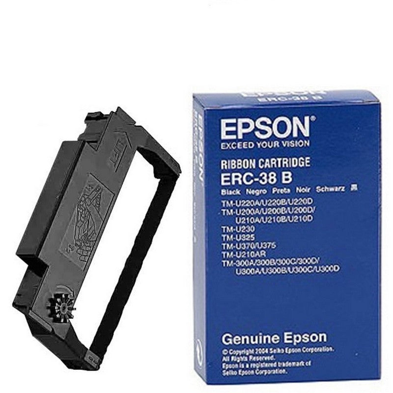 Epson ERC-30 ERC-34 ERC-38 Ribbon Cartridge - Black