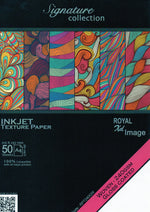Inkjet Texture Paper  A4 Size 50Sheets Woven 240gsm Glossy