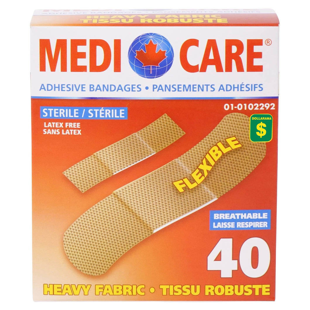 Heavy Fabric Adhesive Bandages 40PK