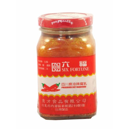 Six Fortune Hot Bean Curd preserved 270 g