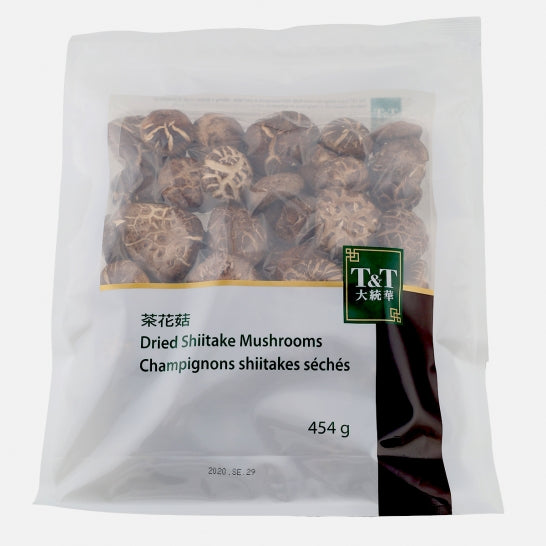 T&T Dried Shiitake Mushrooms, 454g
