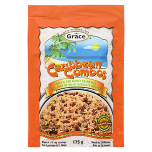 Grace Caribbean Combos Rice & Red Kidney Beans Mix, 175 g