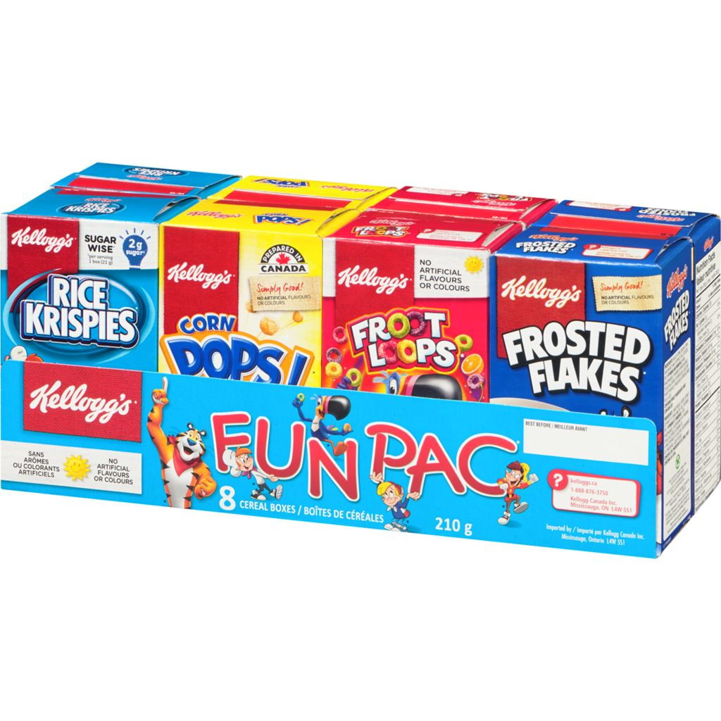 Kelloggs Fun Pac Cereal, 210 g
