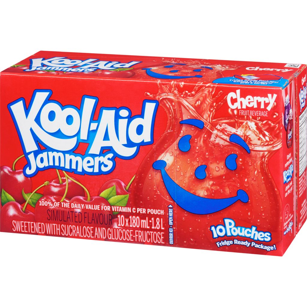Kool-Aid Jammers, Cherry, 10x180mL