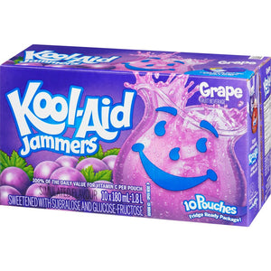 Kool-Aid Jammers, Grape, 10x180mL