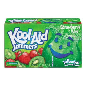 Kool-Aid Jammers, Strawberry Kiwi, 10x180mL