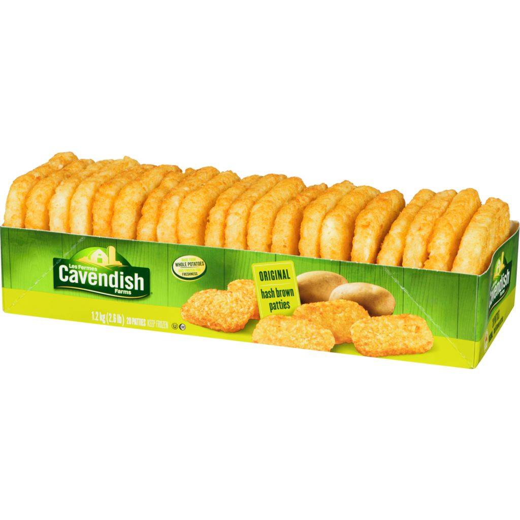 Cavendish Original Hash Brown Patties, 1.20 kg