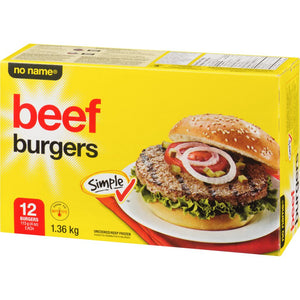 No Name Beef Burger 4 Oz, 1.36 kg