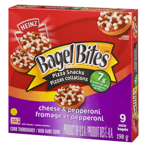 Bagel Bites Bagel Bites Cheese & Pepperoni Frozen Pizza Snack, 198 g