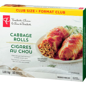President's Choice Cabbage Rolls, Frozen Club Pack, 1.81 kg