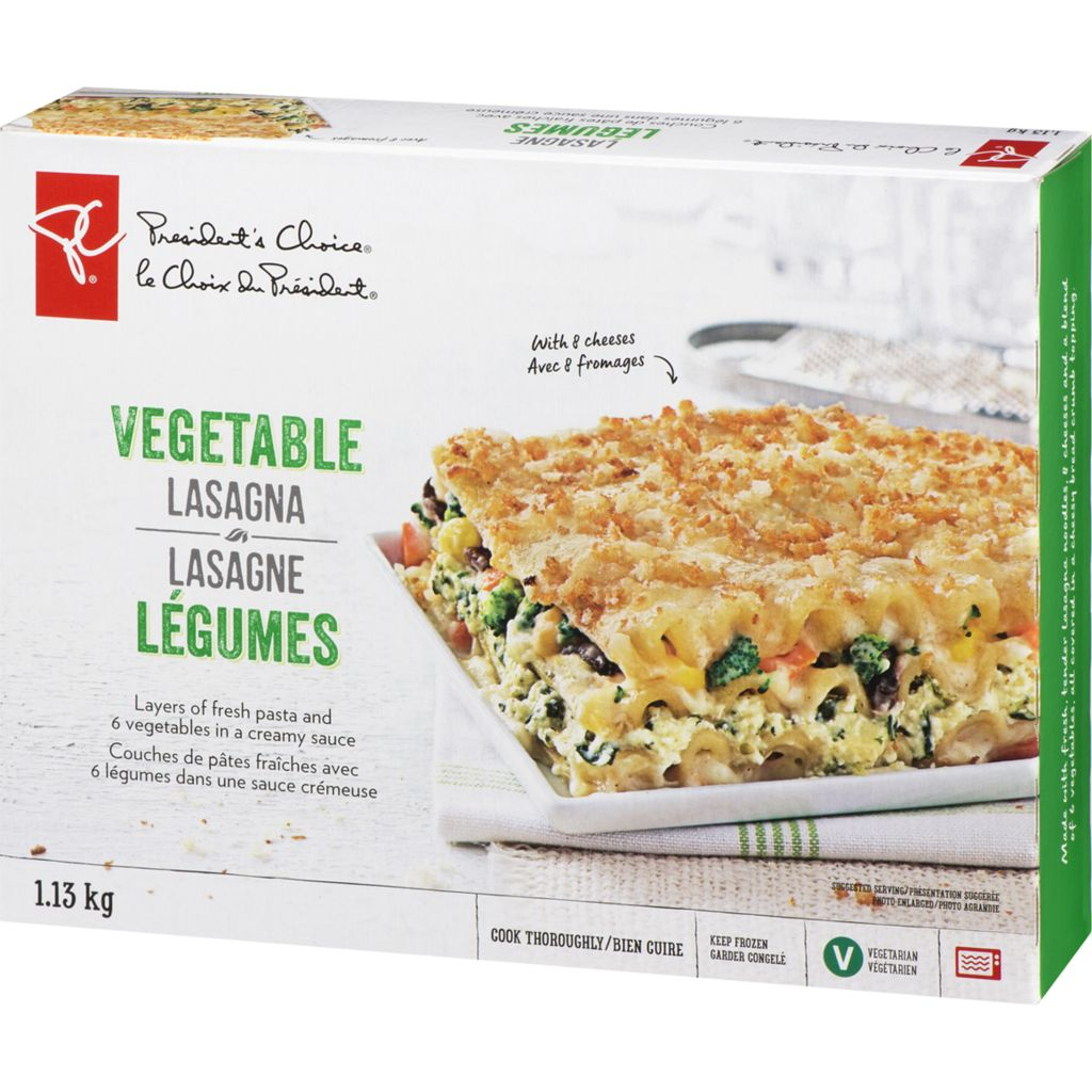 President's Choice Vegetable Lasagna With 7 Cheeses, 1.13 kg