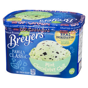 Breyers Family Classic Mint Chocolatey Chip, 1.66 L