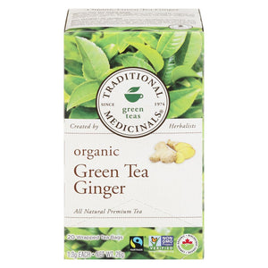 Traditional Medicinals Organic Green Tea with Ginger, 20 ea