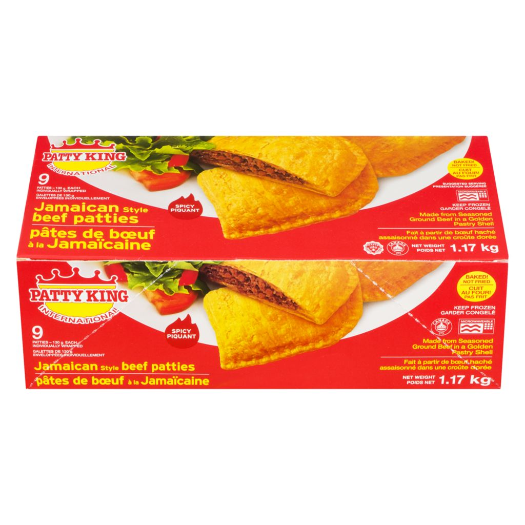 Pattyking Jamaican Beef Patties, Spicy Hot, 1.17 kg