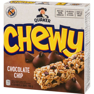 Quaker Chewy Granola Bars, Chocolate Chip, 156 g