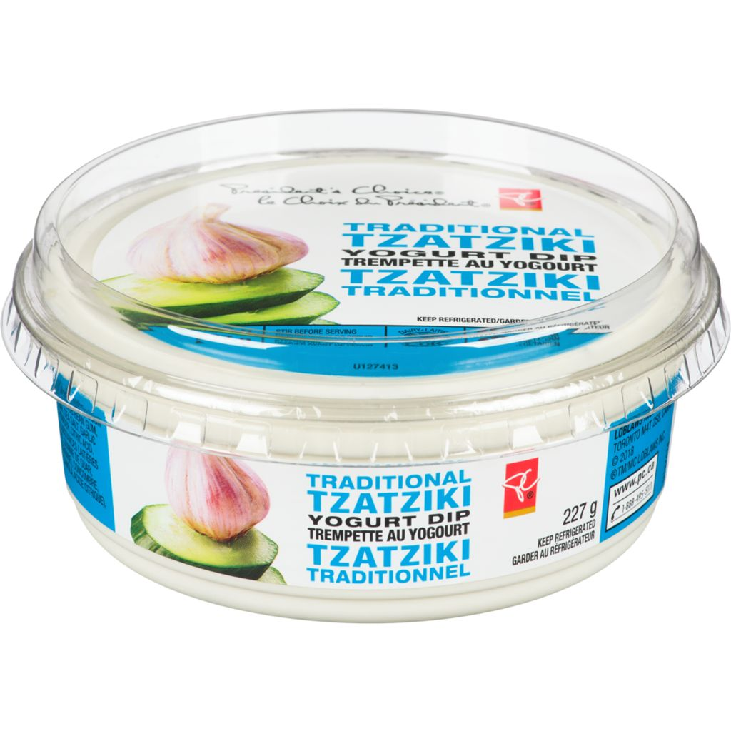 President's Choice Yogurt Dip, Traditional Tzatziki, 227 g