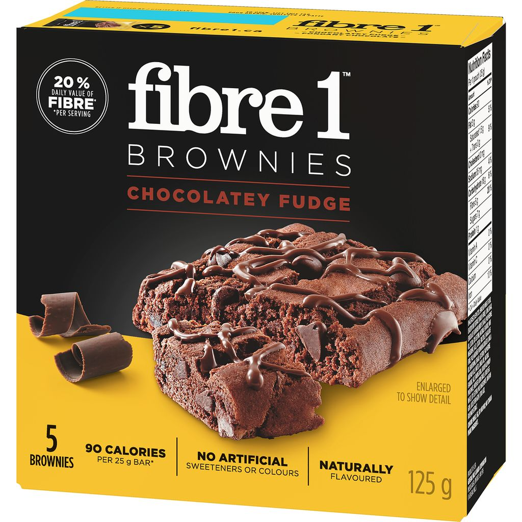 Fibre 1 Brownies, Chocolatey Fudge, 125 g
