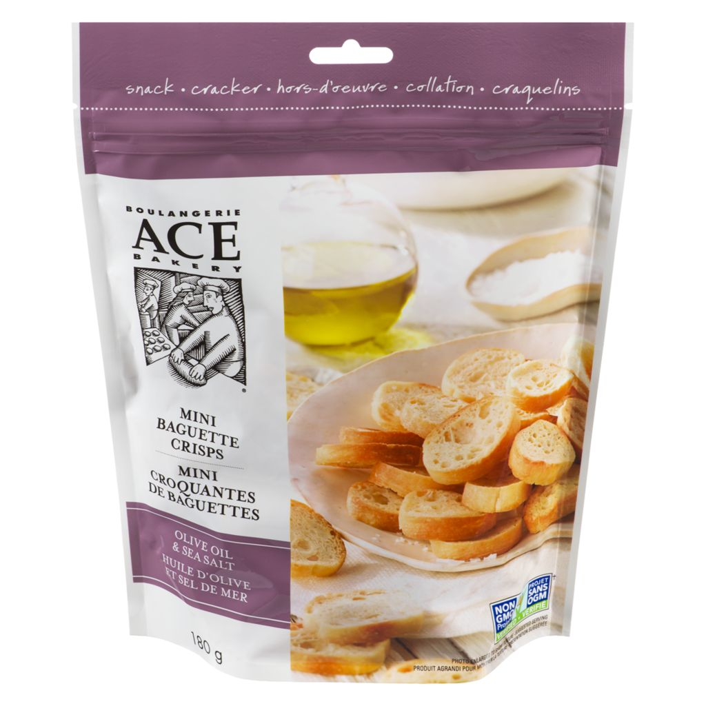 ACE Olive Oil & Sea Salt Mini Crisps, 180 g