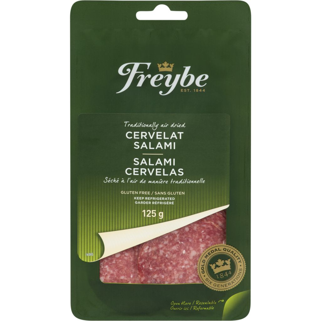Freybe Cervelat Salami, Sliced, 125 g